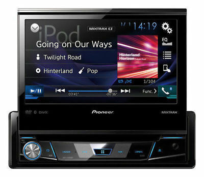 "Pioneer AVH-X7800BT 1-DIN Bluetooth DVD Receiver 7"" Flip-Out Touchscreen Display"