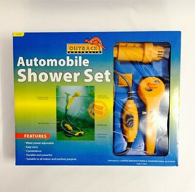 Automobile Portable 12v Camp Shower Set Camping New Outback Australia