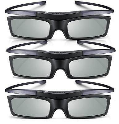 Lot of 3 New Samsung 4K HD UHD SUHD 3D Active TV Glasses SSG-5150GB SSG-5100GB