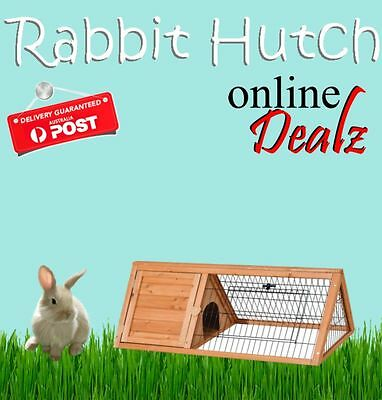 Rabbit Pet Hutch Cage House Wooden Coop Triangle Run Hen NEW Cheapest On Ebay