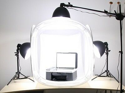 "Pro studio in a box still life photography 3- head lighting 32"" tent & backdrops"