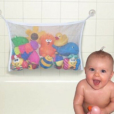 Chic Bath Tub Toy Hanging Mesh Storage Bag Suction Bathroom For Kids Baby