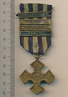 Romanian medal Romania order WWI Inter ALLIED Commemorative Cross 4 clasp bars R