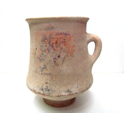 ancient pottery of the holy land terra cotta jug p1292..unique,,time of Moses