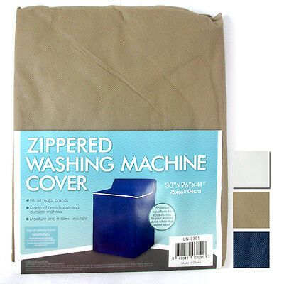 "Zippered Washing Machine Cover Zipper Top Dust Free Appliance Cover 30""x26""x41"""