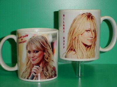 HILARY DUFF - with 2 Photos - Designer Collectible GIFT Mug