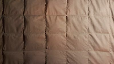 "Brown cotton. 5# - 15# TWIN custom weighted blanket. Appx. 40"" x 70"""