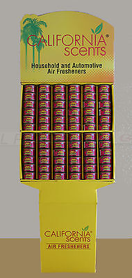 California Car Scents Duftdosen 72 Stück + 72 Deckel inkl. Display - Cherry -