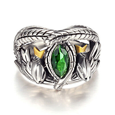 Lord Of The Rings Silver sterling 925 Stamped Aragorn's Ring of Barahir One Ring