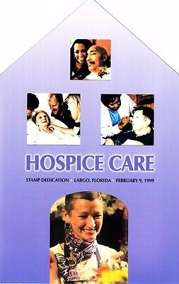 USPS 1st Day of Issue Ceremony Program #3276 Hospice Care FDOI 1999