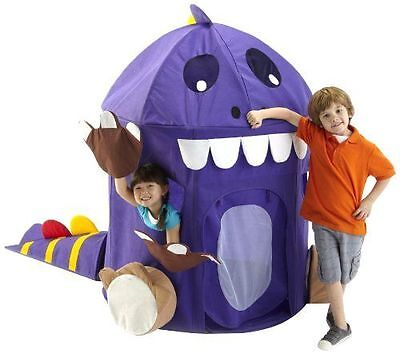 Dinosaur Play Tent With Toy Storage For Kids Purple Free Shipping New