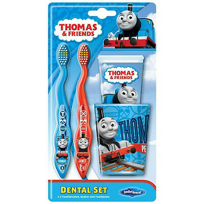 Licensed Thomas Tank Engine & Friends Dental Set Toothpaste Toothbrushes Tumbler
