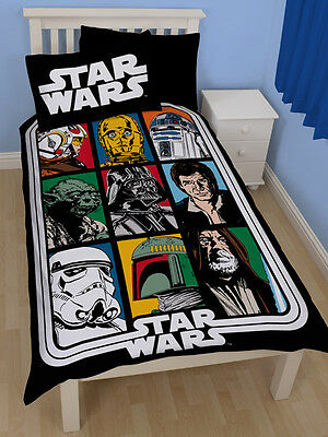 COPRIPIUMINO Star Wars Force Single Duvet Cover and Pillowcase Set