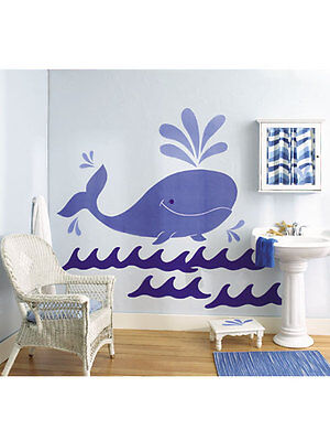 CAMERETTA Wallies Big Murals - Whimsical Whale Wall Stickers