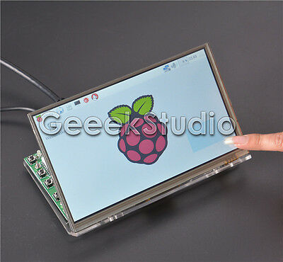 Raspberry Pi 7 inch 1024*600 LCD Touch Screen + Driver Board and Acrylic Bracket