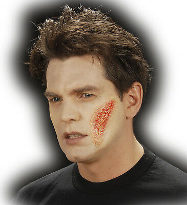 Halloween Horror Special Effect Make Up Zombie Burn Scar Wound FREE BLOOD TUBE