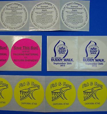 "Printed Circle Stickers, 1,000 Custom 3"" Round Business Labels 1-Color ink, roll"