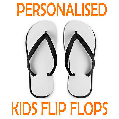 Personalised Kids Flip Flops | Add Your Own Picture/Text | Boys Girls Sandals