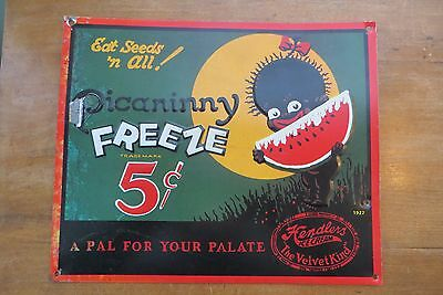 Picaninny Freeze Hendlers Ice Cream, A Pal for Your Palate, litho advertise sign