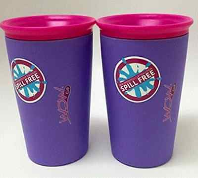 2 Pack:  Wow Cup, Spill-Proof Cup (Purple) As Seen on TV