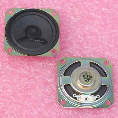 2× AT-50S008 SMALL SQUARE SPEAKER 50mm DIAMETER×10mm PAPER CONE 8Ω SOLDER LUGS †