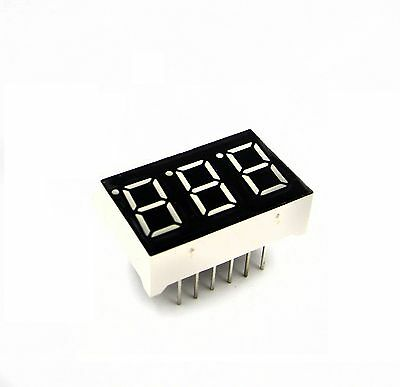 2PCS 0.36 inch 3 digit 7 seg segment Common anode led display Red