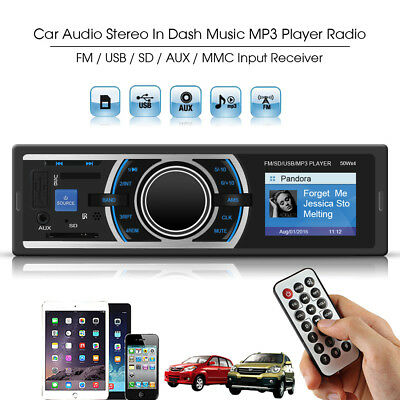 Car Stereo Radio In-dash Head Unit Audio Player FM MP3/USB/SD/AUX Receiver