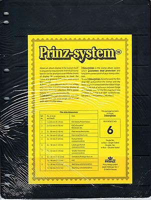 10 Prinz System 6 strip Single sided Pages stock sheet