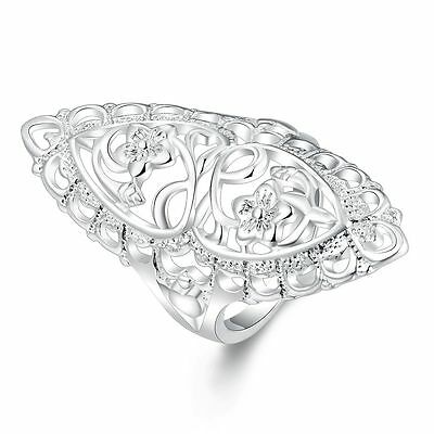 wholesale 925 Silver Ring Women's Classic Wedding Fashion Jewelry Size 6 7 8 9