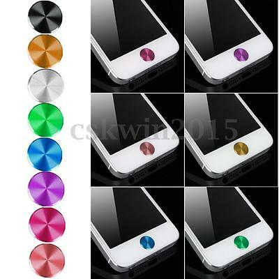 2x Aluminium Metal Home Button Sticker Decal Multi-color for iPhone 5S 6 6S Plus