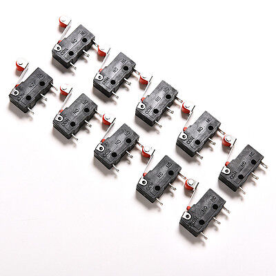 10Pcs Micro Roller Lever Arm Open Close Limit Switch KW12-3 PCB Microswitch MYAL