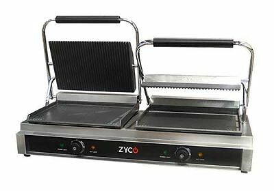 "Professional Double Contact Panini Grill 12 month Commercial ""on site"" Warranty"