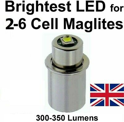 MAGLITE LED UPGRADE Conversion Bulb by UpLED CREE 3 to 6 D/C cell Flashlights
