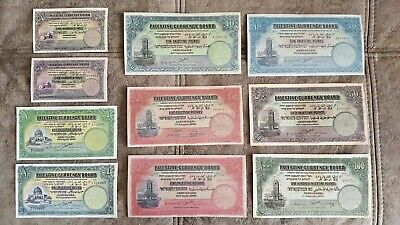 COPIES with W/M of Palestine Currency board 1929-1944 year