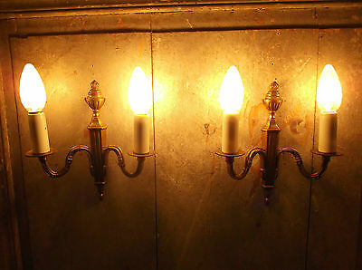 French a pair of really gorgeous vintage bronze wall light sconces finely detail