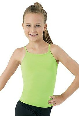 Girl's GREEN Camisole Top MEDIUM | Nylon/Spandex | Dance Gymnastics Yoga Costume
