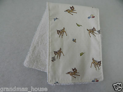 Bambi Burp Cloth - 1 Only Toweling Back - GREAT GIFT IDEA!!