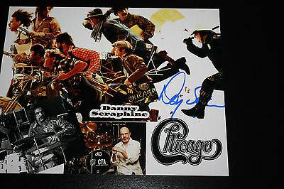 Chicago Drummer Danny Seraphine Signed 8X10 Photo