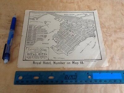 Royal Hotel Saint John New Brunswick Canada Map History Rare