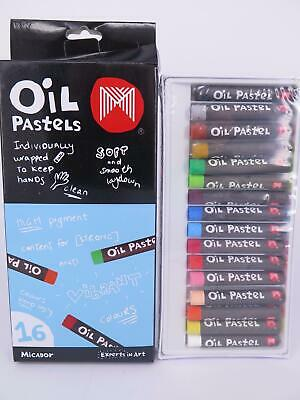 Micador Small Oil Pastels Crayons 16Pk OPM216*