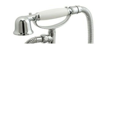 Traditional Victorian Style Shower Head, White Handle - Chrome Replacement Ultra