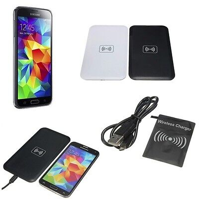 Chargeur Sans Fil Wireless Qi A Induction + Patch Recepteur Pour Iphone 5 & 6