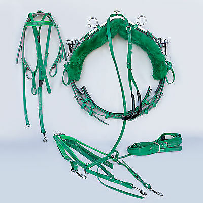 Quick Hitch Mini Trotting Harness - Green