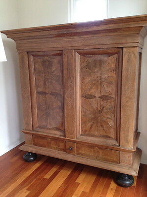 Original Antique Armoire – Inlaid Walnut – 18th Century Antique – Dutch