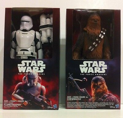 New Chewbacca & Flame Trooper 12'' Figure Set - Star Wars The Force Awakens