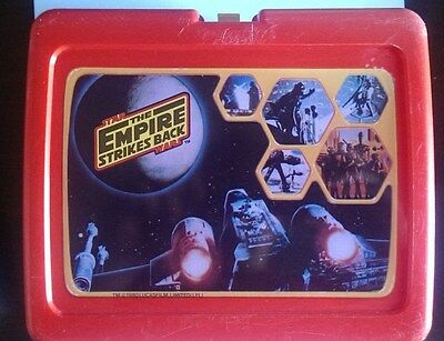 Vintage Lucasfilm Star Wars Empire Strikes Back Lunchbox Lunch box x-wing AT-AT