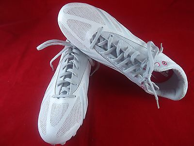 new Adidas Sprint Star 4 W M19945 Silver White Spikes Sprint Shoes Women's 8.5