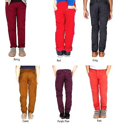 Boys Chinos Trousers Ex M&s Sizes From 12-18 Month Till 13-14 Years