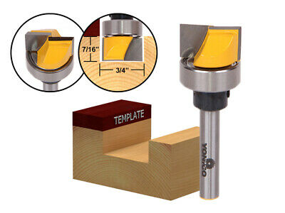 "3/4"" Diameter Flush Trim Template Router Bit - 1/4"" Shank - Yonico 14170q"