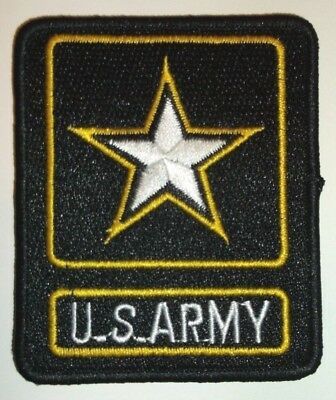 US Army Embroidered Patch~Rectangular~Iron or Sew On~Military~FREE Shipping